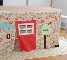 Récupérez vos vieilles nappes en tissus, pour fabriquer une cabane pour enfants! - Bricolages - Trucs et Bricolages