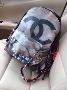 Chanel graffiti backpack black $122