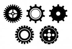 Gear Wheel Vector Free 02