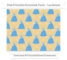Free Landscape Pastel Bright Orange Star Large Cinderella Pattern Paper - Cinderella