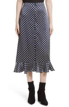 Midi Skirt Fall Fashion Trend, Rainbow Check Asymmetric