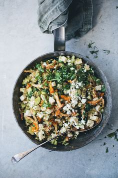 Green Kitchen Stories » Chanterelle, Quinoa & Tofu Stir-Fry  Just minus feta in my case and it's perfect