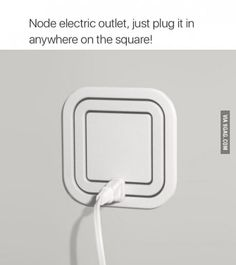 Power Outlet Allows Users to Plug In At Every Angle Node Electric Outlet eliminates the need for a power strip. Just plug it in anywhere on the square!Node Electric Outlet eliminates the need for a power strip. Just plug it in anywhere on the square!