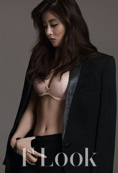 """Kang Sora is sexy in lingerie for Look"""" magazine Actress Kang Sora participated in her first ever lingerie photo shoot, showing off lingerie from premium Italian brand parah in her latest. Asian Lingerie, Lingerie Photos, Lingerie Models, Seductive Lingerie, Girl Celebrities, Korean Celebrities, Korean Beauty, Asian Beauty, Korean Bikini"""