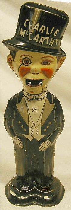 """Marx Charlie McCarthy Tap Dancer, 1938, 8""""H x 2  GREAT TOY"""