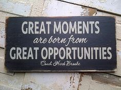 Great Moments inspirational wooden hockey sign by by dressingroom5
