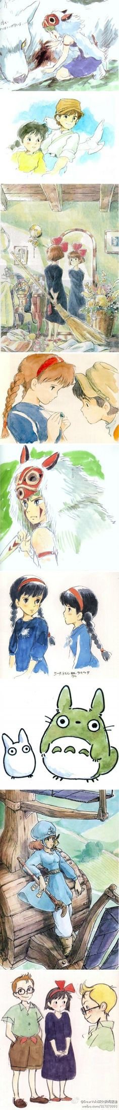 I have a soft spot for sketches and rough drafts of character design.  Hayao Miyazaki is incredibly talented and unique animation style breathes life into his work.