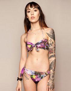 Floral Bikini Top, Drop Dead Clothing