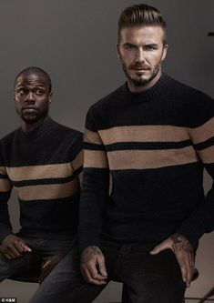 The pair star in a video, which gives a humorous take on the world of Beckham himself...