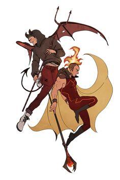 devil and fire spirit