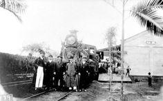 Foto provável da inauguração da estação em 1906 ou de 1908.