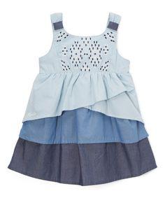 Loving this Blue Ombré A-Line Dress - Infant & Toddler on #zulily! #zulilyfinds