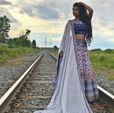 A woman on the right track. Lily Singh, Vlog Squad, Dress Codes, Indian Fashion, Youtubers, Desi, Queens, Kimono Top, Track