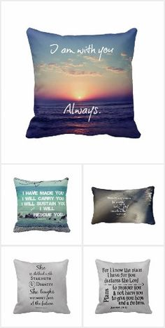 Bible Verse Pillows #pillows #faith #bibleverse