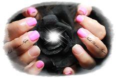 Unhas em Gel cor Rosa com glitters!