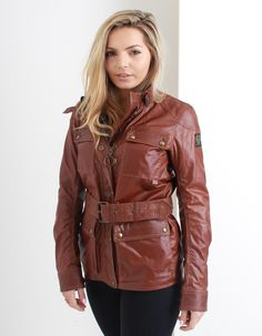 Belstaff Burnt Brown Roadmaster Jacket   Accent Clothing