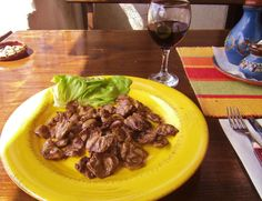 ~Grilled chicken hearts with chilled red wine.......Veliko Tarnovo, Bulgaria......April, 2012