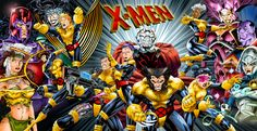 X-men Comic | tagged the x men marvel comics illustration comics remakes