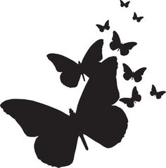Butterflies Silhouettes                                                                                                                                                     Más