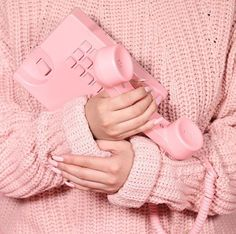 pink, aesthetic, phone, nails, sweater