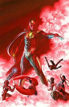 New Avengers by Alex Ross. A homage to the cover of Avengers#57(1968)by John Buscema.