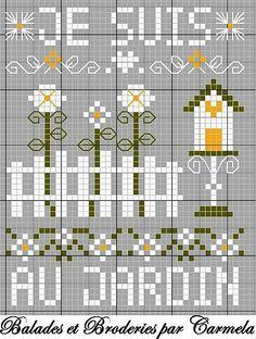 Spring Garden Cross Stitch Pattern