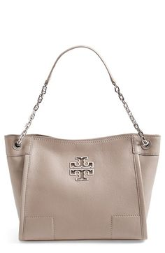 1723bb8baba Tory Burch  Small Britten  Leather Slouchy Tote