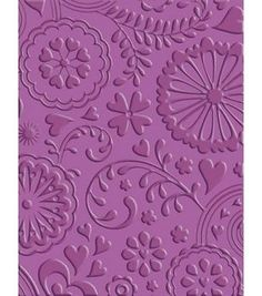 Cuttlebug A2 Embossing Folder-Floral Fantasy