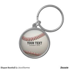 Elegant Baseball Keychain