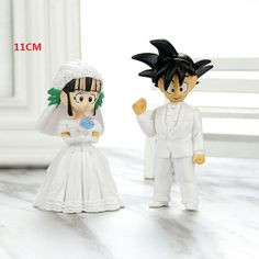 Dragon Ball Z Action Figure Son Goku Wife Chichi Janpan Anime Figurine Wedding Doll with base Valentine's Day Gift Romantic 11CM