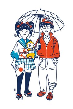 More of those quirky illustrations and animated gifs by Japanese Illustrator Daisuke Nimura previously posted about here Take a looksy below &n. Japan Illustration, Simple Illustration, Abstract Illustration, Illustration Mignonne, Funny Illustration, Character Illustration, Graphic Illustration, Makeup Illustration, Illustration Styles