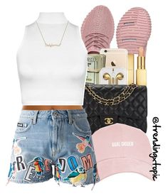 """""""H I G H   $ O C I E T Y"""" by trendingxtopic ❤ liked on Polyvore featuring AERIN, Chanel, MSGM and WearAll"""