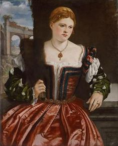A Young Lady, ca. 1540, Italian, Unknown Artist,  Kunsthistorisches Museum, Wien   GG_1914