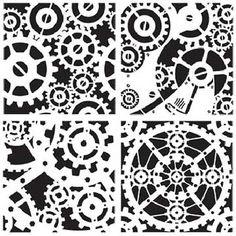 Steampunk stencils.