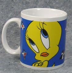 Tweety Bird Coffee Cup Looney Tunes B Coffee Mugs