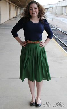 Sis-Miss Clothing - Pleated Skirt with Pockets- Green , $35.99 (http://www.sis-miss.com/pleated-skirt-with-pockets-green/)