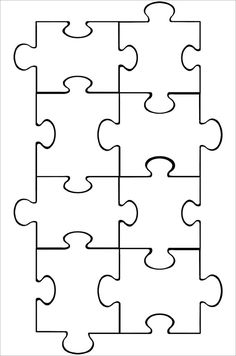 Puzzle Piece Template                                                                                                                                                     More