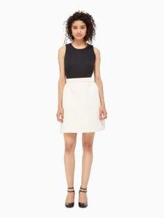 satin faille bow back dress | Kate Spade New York