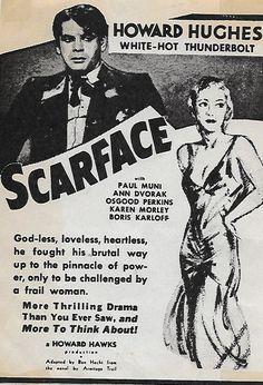 Karen Morley and Paul Muni in Scarface (1932)