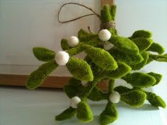 """I'm from Oklahoma and this is the state """"flower"""".  Perfect!  pod's felted mistletoe, $15"""