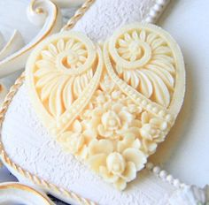 beautiful heart soap ~