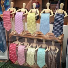 This could work for scarves as well as ties #retail #visual #merchandising #window #display