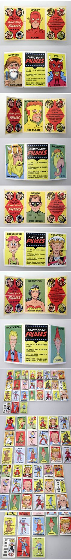 A (Topps) Comic Book Foldees Marvel Comics 1960's  EBAY ONLINE AUCTION NOW ON SALE START EURO 99.00.-:  http://www.ebay.de/itm/130876233951?ssPageName=STRK:MESELX:IT&_trksid=p3984.m1558.l2649