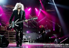 Def Leppard's Rick Savage performing in Camden, NJ on June 26, 2011