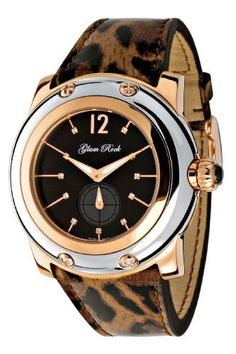Glam Rock Women's GR10040 Miami Collection Diamond Accented Maculate Patent Leather Watch Glam Rock. $399.99. Black dial with rose gold-tone hands, hour markers and arabic numeral 12; luminous; 11 white diamond hour markers; black cabochon crown. Scratch-resistant sapphire crystal; rose gold ion-plated stainless steel case with silver-tone stainless steel cover; maculate patent leather strap. 60 second subdial. Water-resistant to 330 feet (100 M). Precise Swiss-...