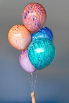 Marble balloons via drop it modern