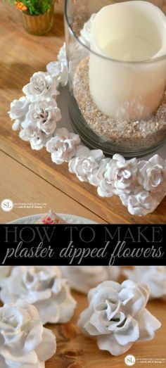 DIY Plaster Flowers   plaster dipped artificial flowers inspired by Springtime in Paris from Michaels Makers By Stephanie Lynn