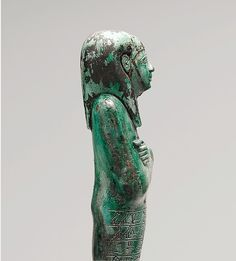 Shabti of Seniu. New Kingdom, Dynasty 18, early, reign of Amenhotep I–Thutmose III, ca. 1525–1504 B.C. From Southern Asasif, Cliff Tomb (MMA 1021), Radim near mouth of tomb, MMA excavations, 1918–19. Medium: Glazed steatite, paint