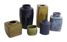 Christian Poulsen Collection of Six Unique Studio Vases image 4