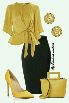 I like the skirt shape and love chartreuse / mustard tones. This is overall a li...